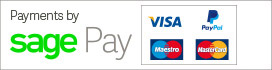 Payments by Sage Pay - VISA, Maestro, MasterCard, PayPal, American Express