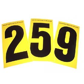 Black Number Yellow Background