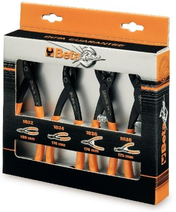 Beta Tools Set of 4 Circlip Pliers 1031