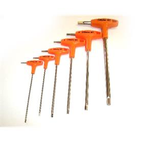 Set of 6 Beta Tools Allen Key T Bar 2.5 - 8mm