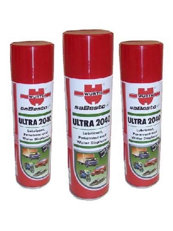 Wurth 2040 Lubricant Pack of Three