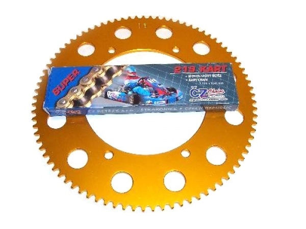 CZ Chain 114 Link & Rear Sprocket