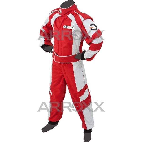 Level 2 Race Suit Junior Red - White