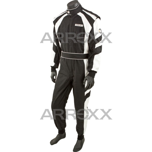 Level 2 Race Suit Adult Black - White