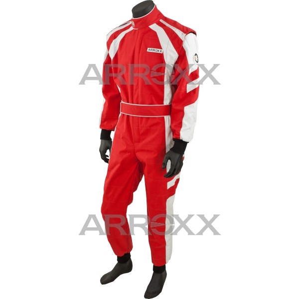 Level 2 Race Suit Adult Red - White