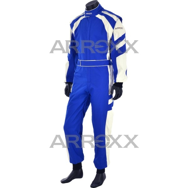 Level 2 Race Suit Adults Blue - White