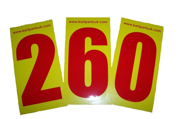 Red Number Yellow Background Pack Of Four