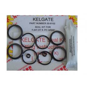 Kelgate Seal Kit KA4 or 4 Pot Front Caliper 00-8102