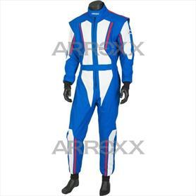 Level 2 Race Suit Junior Blue - White - Red