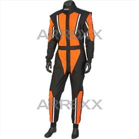 Level 2 Race Suit Junior Black - Orange - White
