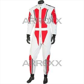 Level 2 Race Suit Adult White - Red - Black