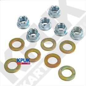 Douglas Wheel Nuts & Washers Pack of Six